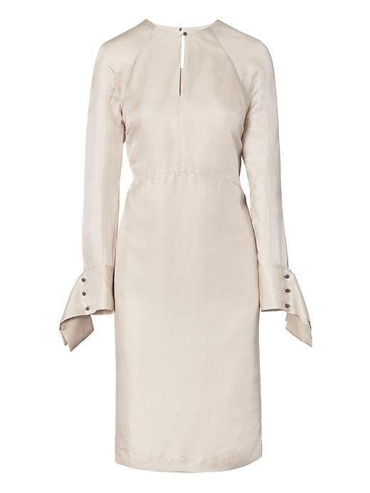 Banana Republic Womens Heritage Silk Seamed Midi Shift Dress