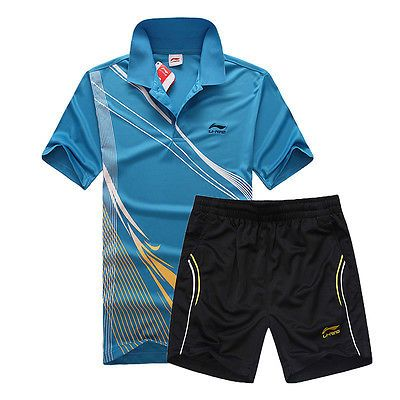 Men's li-ning #t-shirt+short #table tennis #badminton sportsweartracksuits suit n,  View more on the LINK: http://www.zeppy.io/product/gb/2/262492358489/