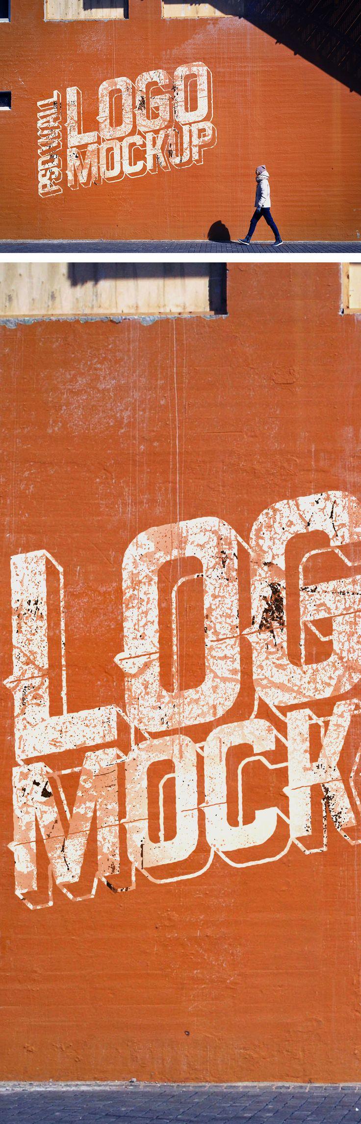 Street Wall #Logo #Mockup #PSD