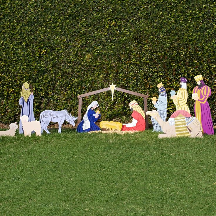 Nativity Scene Outdoor Christmas Decoration: 30 Best Yard Art Images On Pinterest