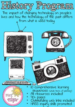 History Bundle: Changing technologiesA comprehensive history bundle on changing technologies. This History program specifically addresses the following Year 2 Australian curriculum outcome: The impact of changing technology on people's lives and how the technology of the past differs from what is used today.Includes a thorough PowerPoint on the olden days, covering electricity, communication and transport with visually appealing photographs.