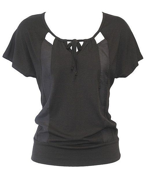 Chalkydigits Summer 12/13 Black Pearl Panelled Top Womens