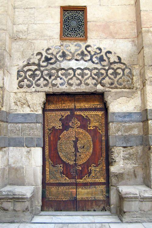 Wood door. Egypt.