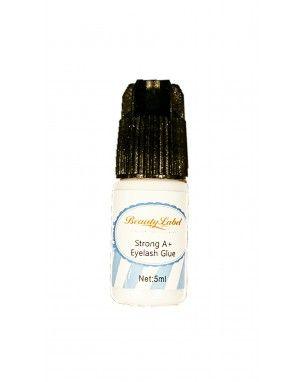 Beauty Label Strong A+ glue 5ml Inhoud: 10ml Kleur: zwart Droogtijd: 2-4 seconden weinig dampen Na openen tot 3 maanden houdbaar. Deze lijm is geschikt voor mensen met een gevoelige huid Bij happywimperextensions.nl
