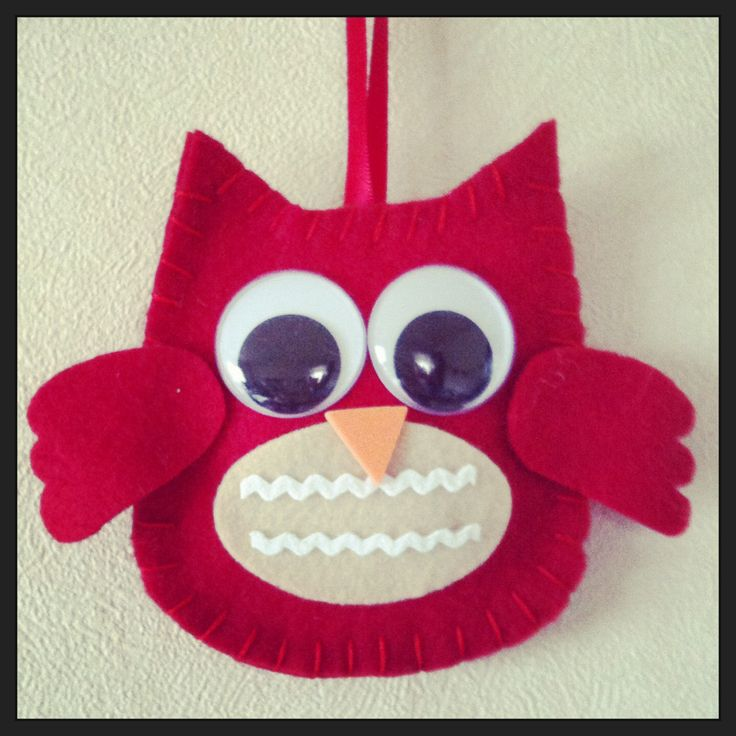 Felt owl wall hanging for my baby boy's room