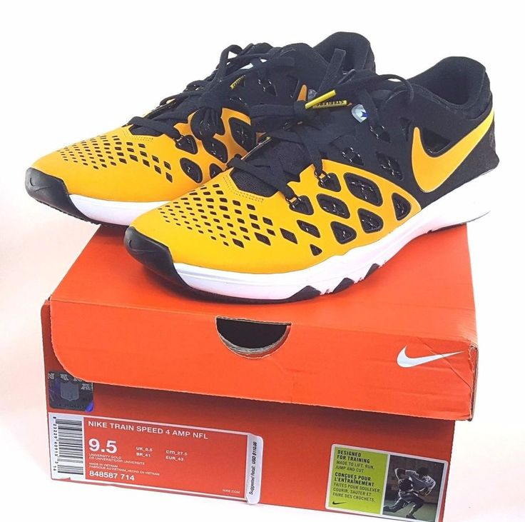 Nike Train Speed 4 Amp NFL Pittsburgh Steelers 848587 714 Men Size 9.5 New