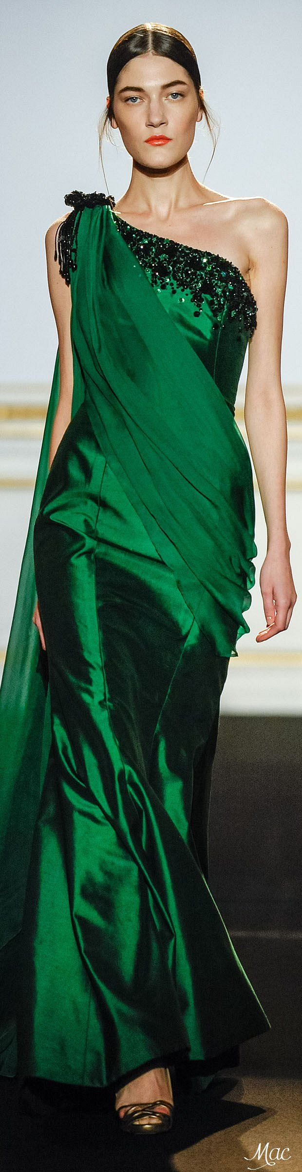 Haute Couture Spring 2015 Dany Atrache gorgeous green dress