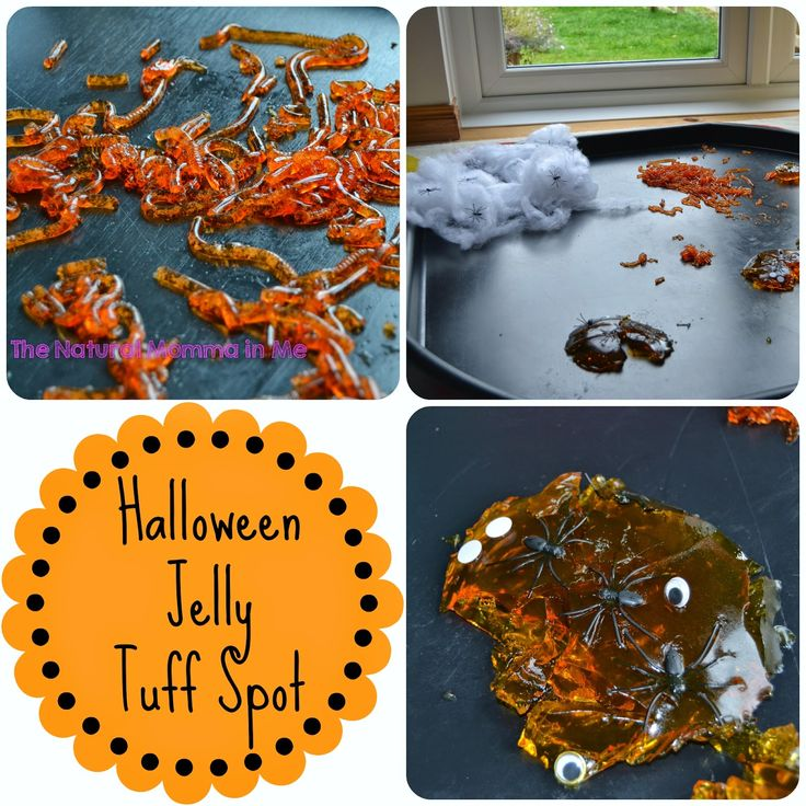 The Natural Momma in Me: Day 23: Halloween Jelly Tuff Spot