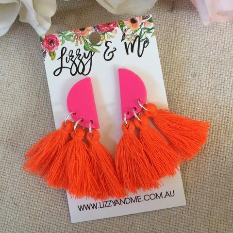 Fan Tassels - Candy Pink & Orange