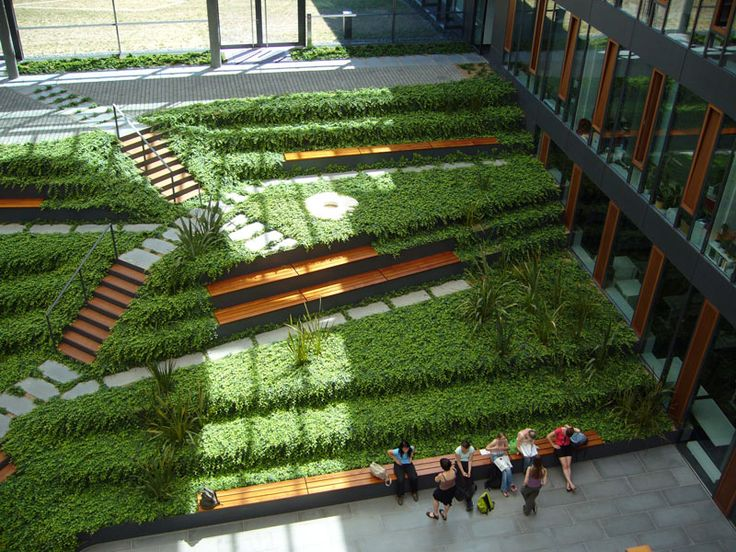 roof garden design at biological institutes of dresden university of technology by gerber architekten