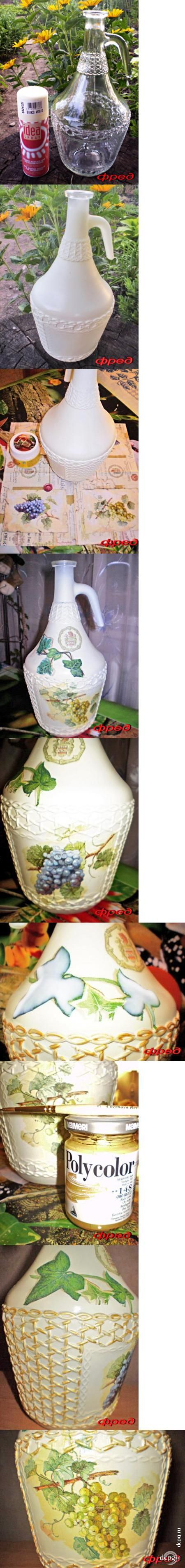 Декупаж - Сайт любителей декупажа - DCPG.RU | Бутыль для вина