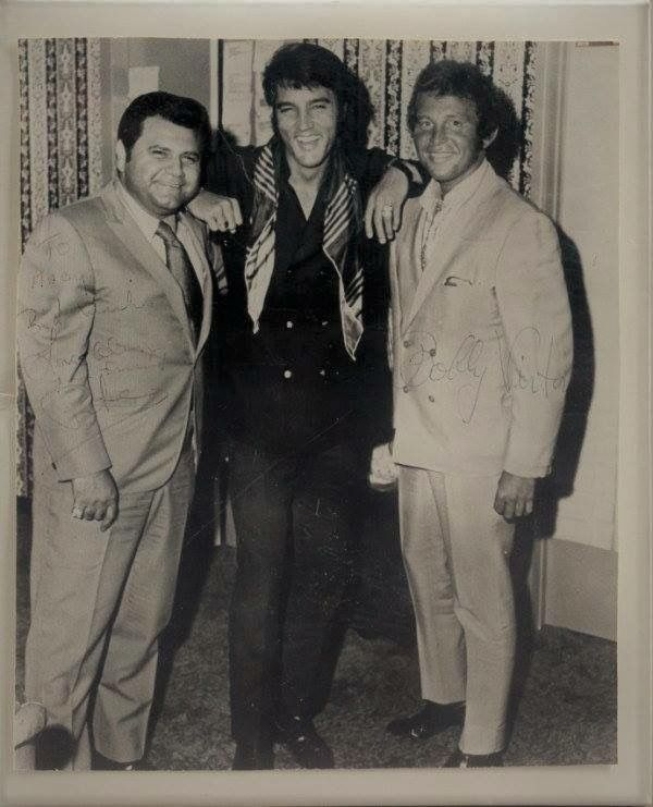 """Promoter Pete Bennett, Elvis and Bobby Vinton. """"Pete's embellishments of his own biography were more entertaining than annoying. He had an uncanny ability to move into a star's inner circle and then claim some ill-defined role in that artist's career. He said he launched Elvis's smash 1969 hit """"Suspicious Minds"""" (he did help promote it)... Pete Died of a heart attack at age 77 in 2012."""""""