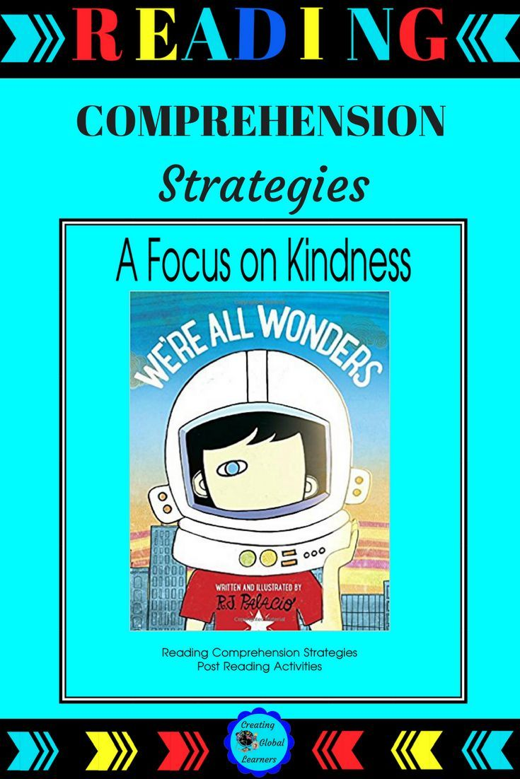 """We're All Wonders is about the main character, Auggie, in the older version of Wonder, by R.J. Palacio. Palacio gives a powerful message to younger primary students in this book. This student-directed guide, including the best of reading comprehension strategies, will help all students to be """"kinder"""" throughout the year.