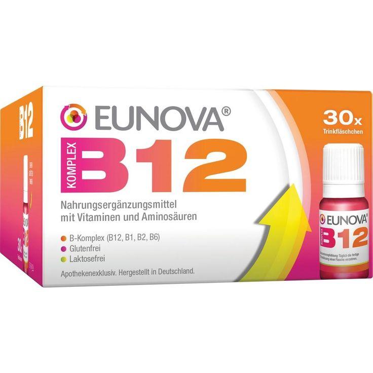 EUNOVA B12 Komplex Trinkfläschchen:   Packungsinhalt: 30X10 ml Lösung zum Einnehmen PZN: 11537996 Hersteller: STADA GmbH Preis: 37,54 EUR…