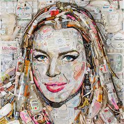 Lindsay Lohan, in trash.