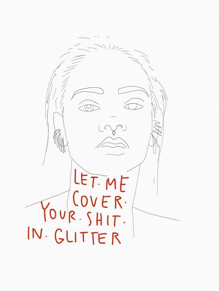 #rihanna #illustration #colaboration Rihanna quote ANTI Rihanna ilustración por @theheadhunt lápiz crayón #pencil #watercolor #art #ilustracionrihanna