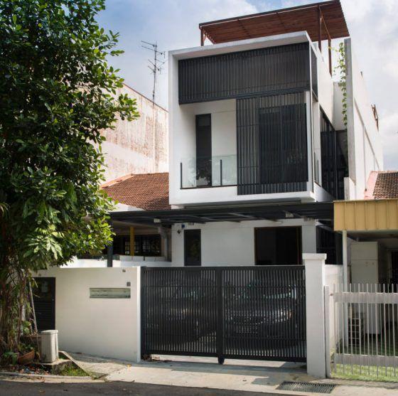 Dise os de casas construidas en terrenos angostos y largos for Planos y disenos de casas pequenas modernas