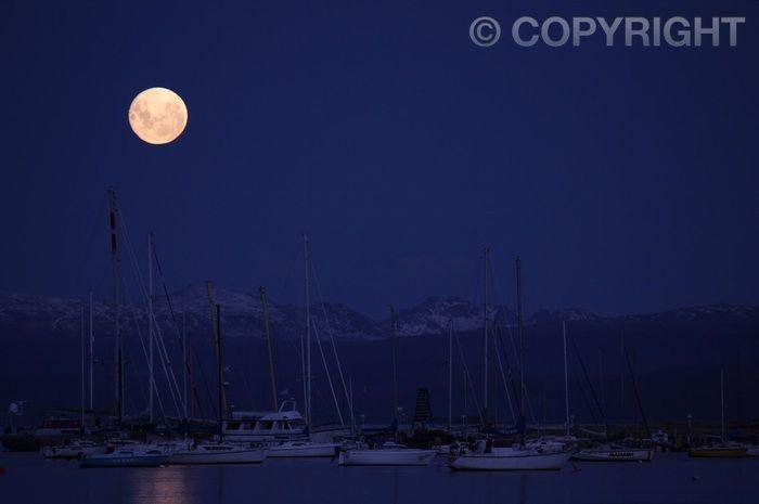 Moonrise - Ushuaia Bay, Tierra del Fuego -