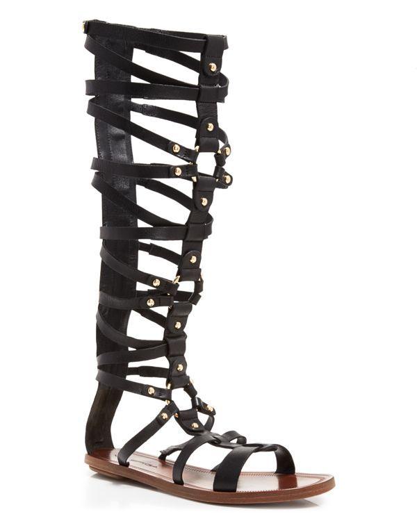Via Spiga Open Toe Flat Gladiator Sandals - Sumner