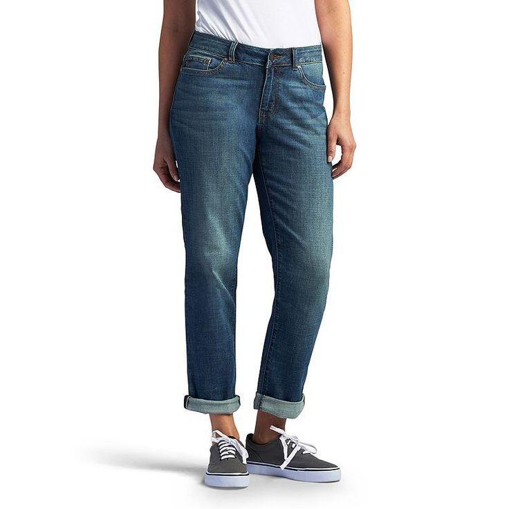Petite Lee Ruby Modern Fit Boyfriend Jeans, Women's, Size: 8P - Short, Dark Blue