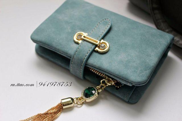 Slymaoyi 2017 New Fashion Women Wallets Drawstring Nubuck Leather Zipper Wallet Women's Short Design Purse Retro Tassels Clutch aliexpress.com