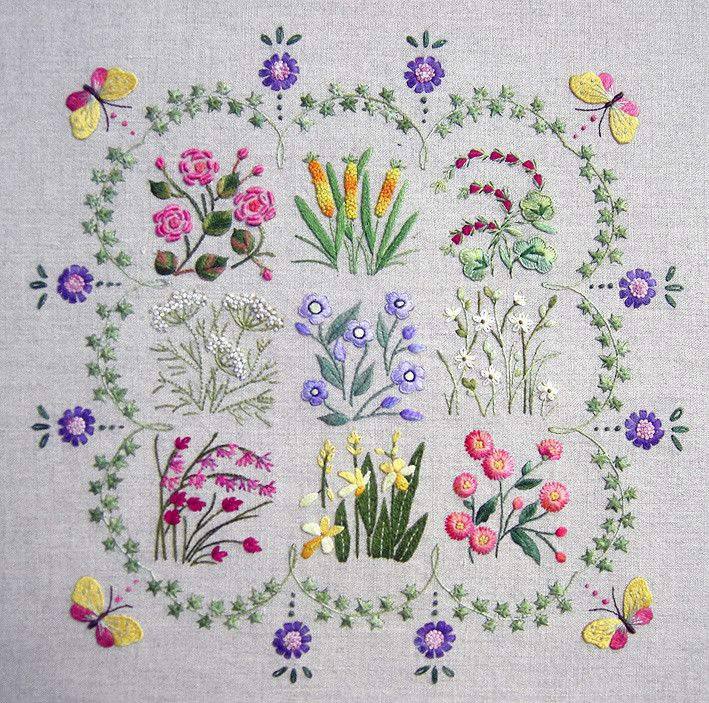 Herbier kit – French Needlework Kits, Cross Stitch, Embroidery, Sophie Digard – The French Needle