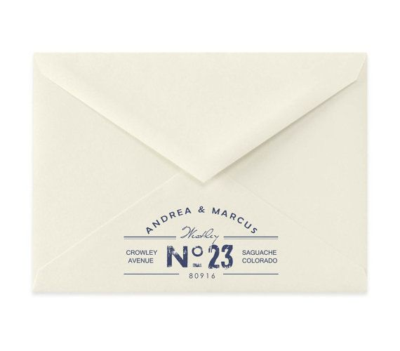 Return Address Stamp Calligraphy Wedding Address By