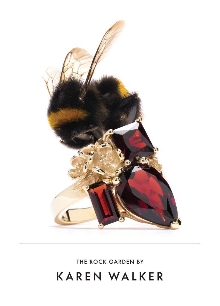 Karen Walker Garnet Rock Garden Ring