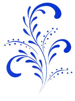 Blue Country Design Decal