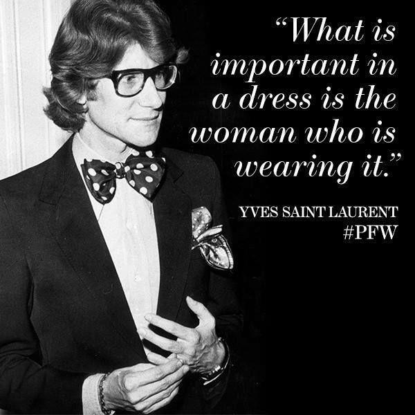 La cosa importante di un abito è la donna che lo indossa