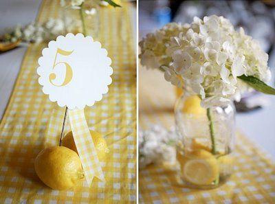 Gingham. #wedding #yellow