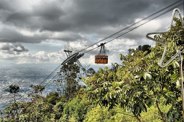 Cable car, Bogota, Colombia by NapaneeGal, via Flickr