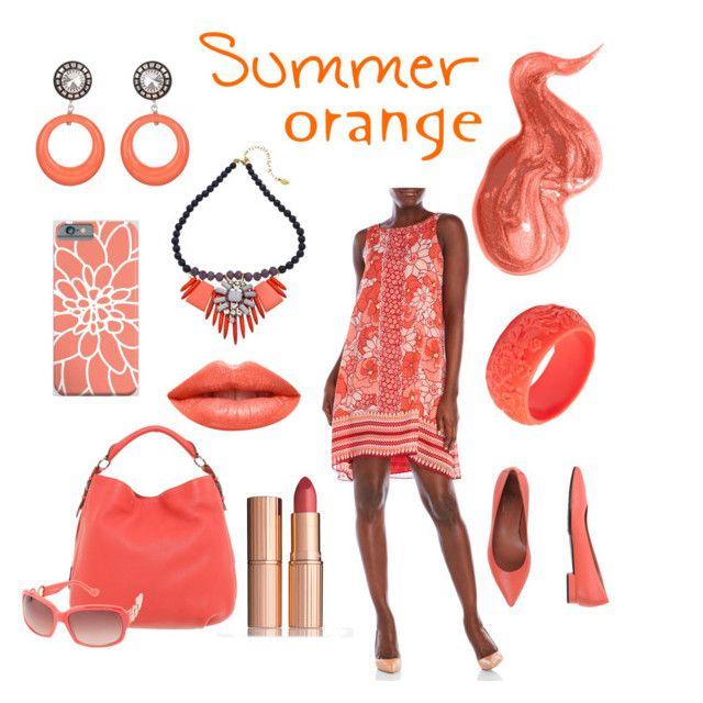 """Summer Orange"" by linda-shy-dalton ❤ liked on Polyvore featuring Bobbi Brown Cosmetics, Max Studio, Charlotte Tilbury, Bogner, Ivanka Trump, F.Lli Bruglia, Mariah Rovery, Ardency Inn and David Aubrey"