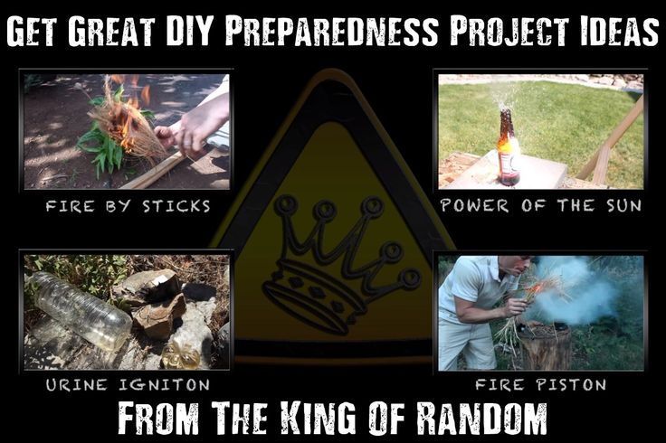 "Get Great DIY Preparedness Project Ideas With The King Of Random - The King Of Random has made quite a few SHTF and emergency preparedness ""weekend projects"" on YouTube, and the good thing is he shows you how to make them too! He has a huge collection of great projects that you do not want to miss!"