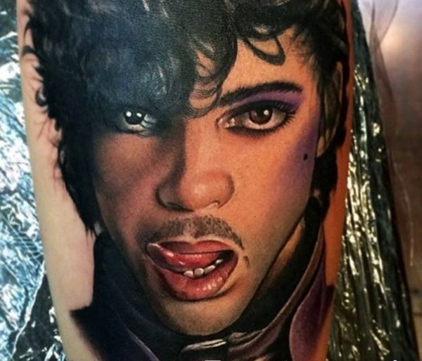 11 Prince Tattoos to Honor a Legend - http://slodive.com/tattoos/11-prince-tattoos-to-honor-a-legend/