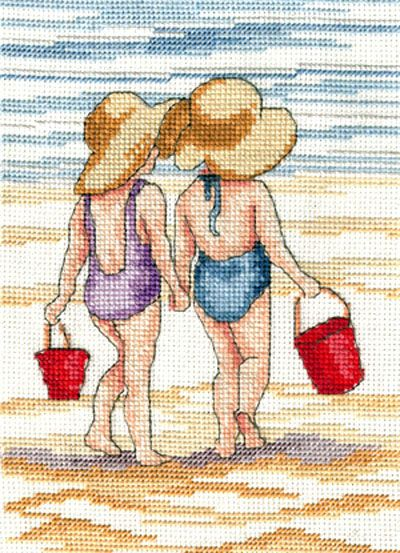 "All our Yesterdays, Faye Whittaker ""Red Buckets"" Kreuzstichpackung / cross stitch kit"