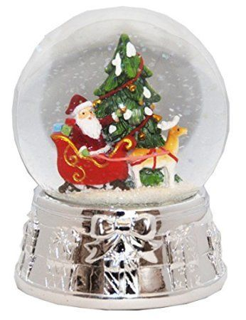 20075 Snow globe Christmas Tree Santa Silver Base music box, 5.5 inch height I have always loved snow globes they are enchanting, majestic and super cool.  I love that they are a rare novelty item that has a history and nostalgic meaning. They make great home decorative accents and can be used in every room of the home. Holiday snow gloves are some of my favorite.   They make excellent gifts and I love the wide variety there are.  These are super adorable and a great add to your snow globe…