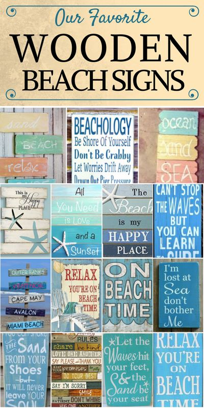 WOODEN BEACH SIGNS LIST.  Discover the absolute best wooden beach signs we have to offer at Beachfront Decor!  We have a huge variety of nautical, tropical, coastal, beach, and ocean themed wooden signs that would go great in a beach home.  In addition, we have rustic, modern, vintage, and contemporary wooden signs for beach homes.