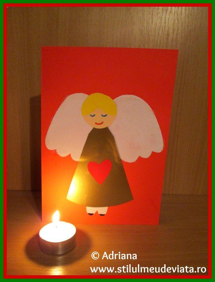 Angel Christmas Card / felicitare ingeras