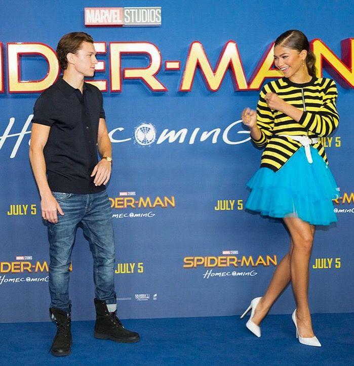 Tom Holland | Zendaya | Spiderman | Spider-Man Homecoming press |