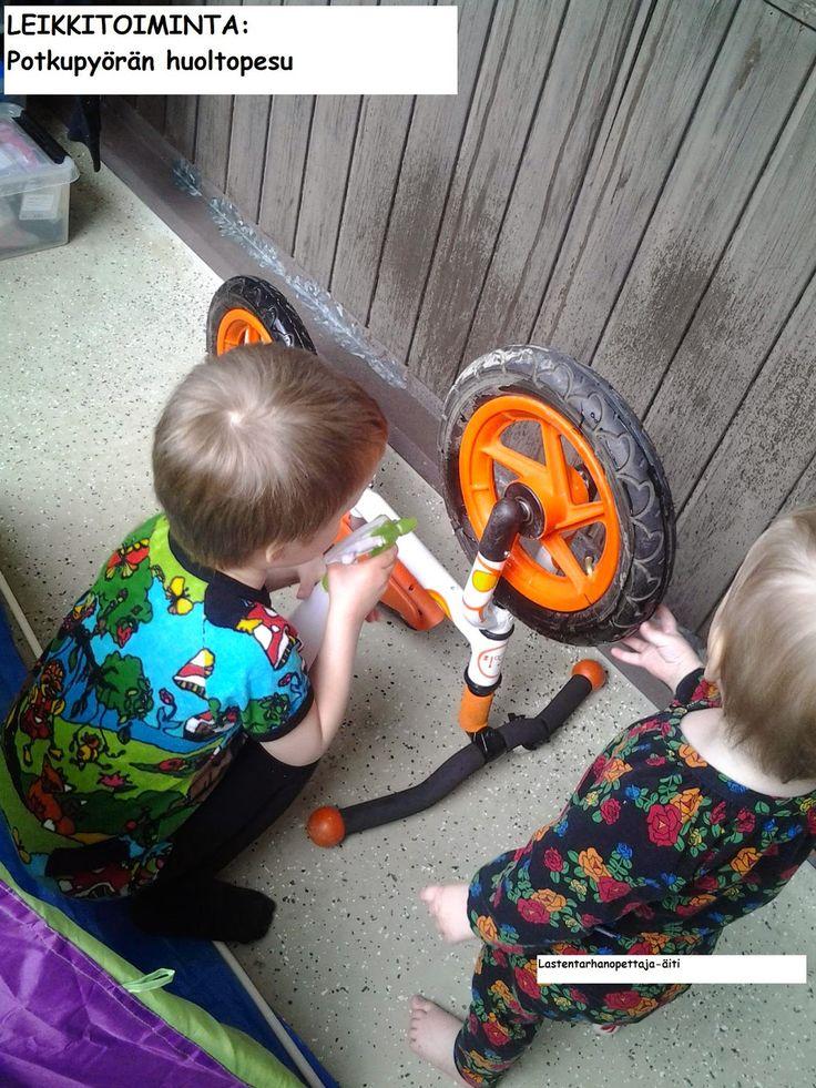 leikit, ulkoleikit, potkupyörä