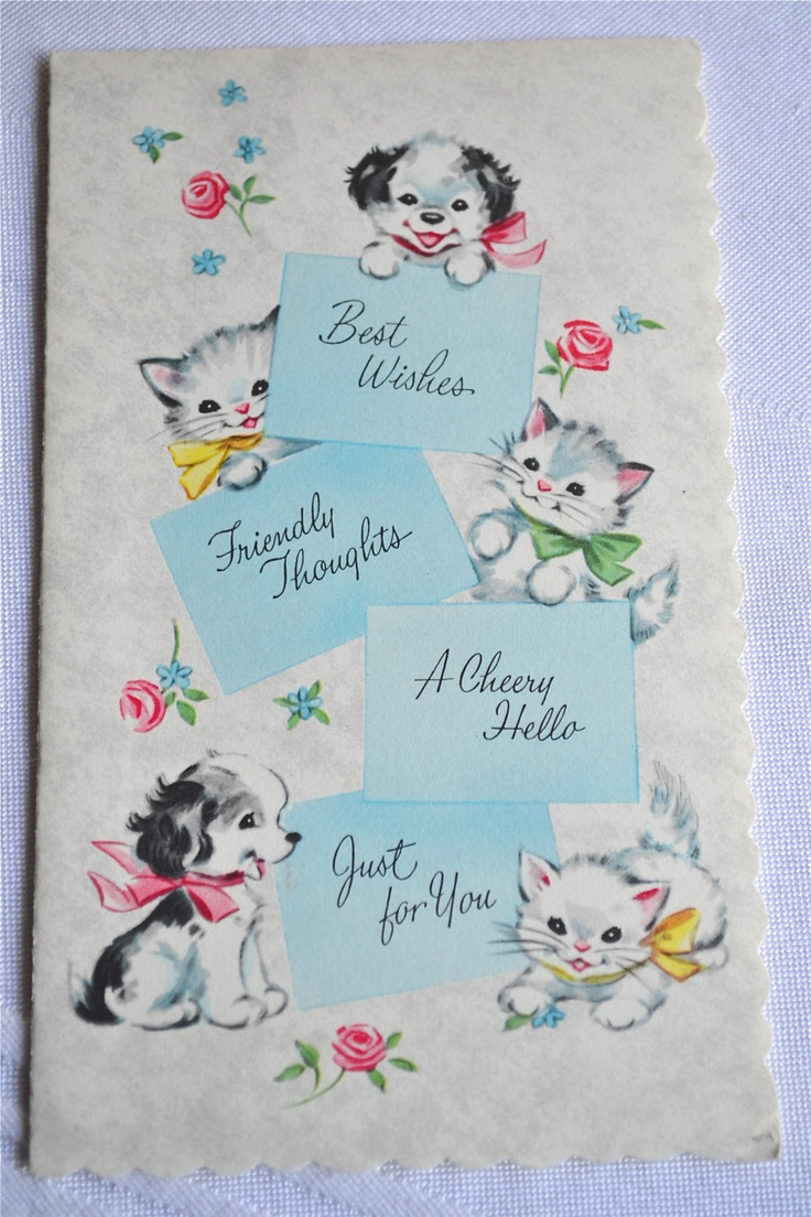 179 best signed sealed delivered images on pinterest vintage vintage birthday card puppy and kittens unused bookmarktalkfo Image collections