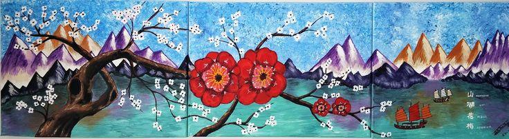 fleur prunier 44x12