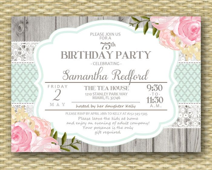 29 best Adult Birthday Invitations images on Pinterest Birthday