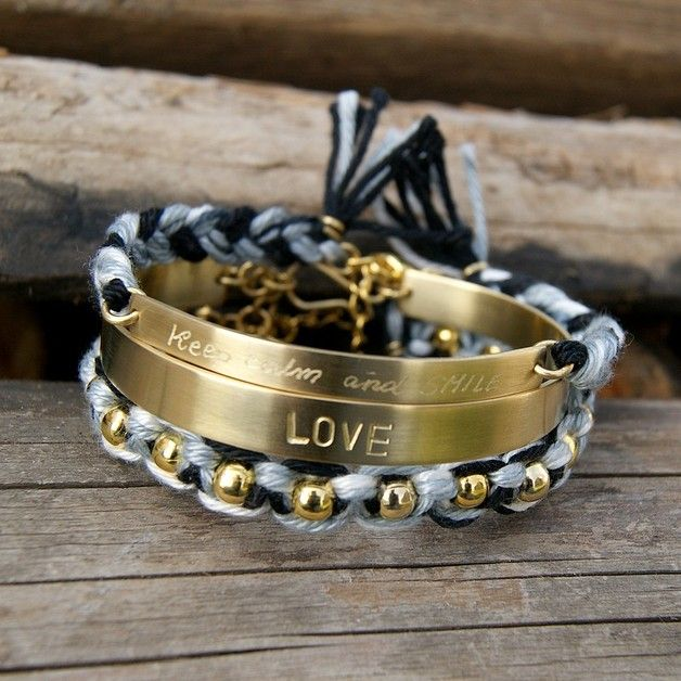 friendship bracelets, personalized bracelet, braid, gold jewelry