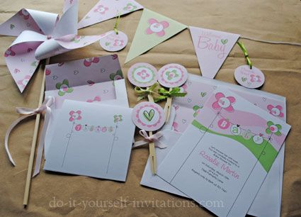 FREE Baby Shower Invites With Tons Of Diy Party Stuff!!!!! Cute