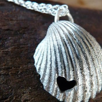 """Create Staff Picks: Valentine's Gifts - Create.net Blog - Delicate and understated """"Shell Love Necklace"""" by www.seasparkle.co.uk - from our #Create #valentines #gift blog post!"""