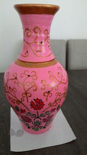 Tamam'ı el işçiliği dekoratif küp  (250 TL)