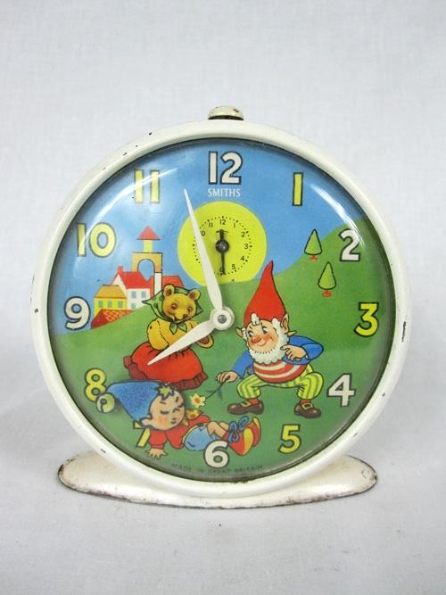 Vintage Smiths Noddy Alarm Clock