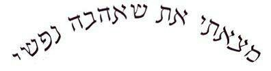 Mine and Brians matching tattoo.. Song Solomon 3:4 I have found the one whom my soul loves. Written in Hebrew.